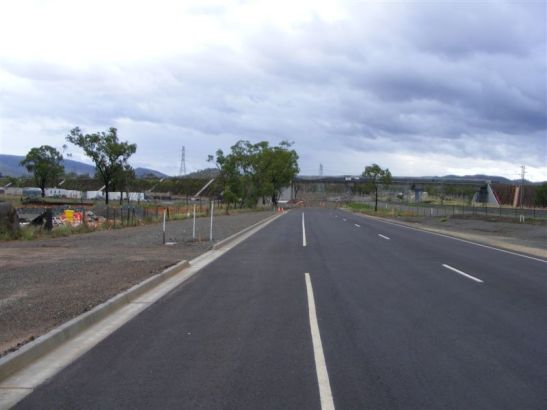 Council's new section of road to join the Overpass stands up well as seen in this photo